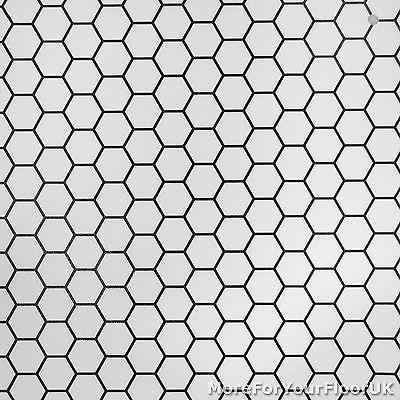 Cheap Modern Vinyl Flooring Black White Hexagon Vinyl Kitchen