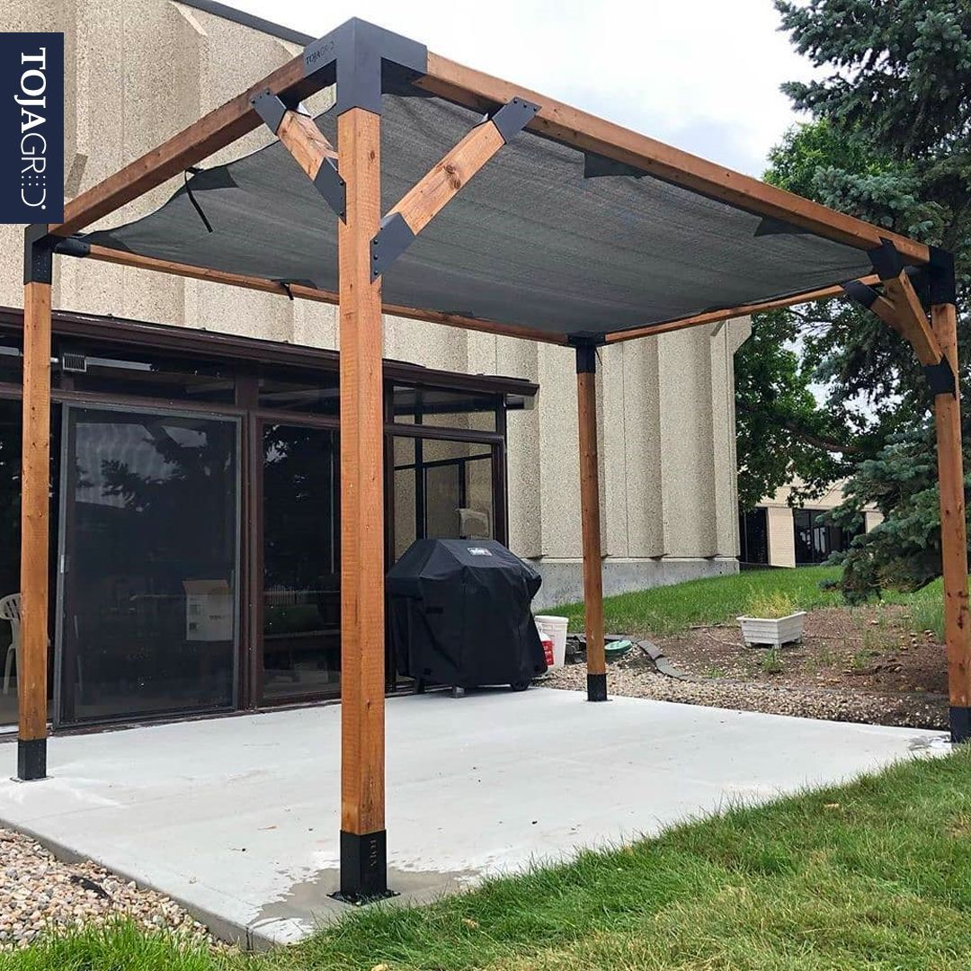 Pergola Kit With Shade Sail For 4x4 Wood Posts In 2020 Shade Sail Pergola Kits Pergola