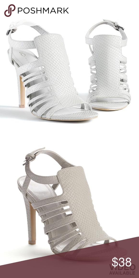 LC Lauren Conrad Aventurine Womens High Heel Sandals