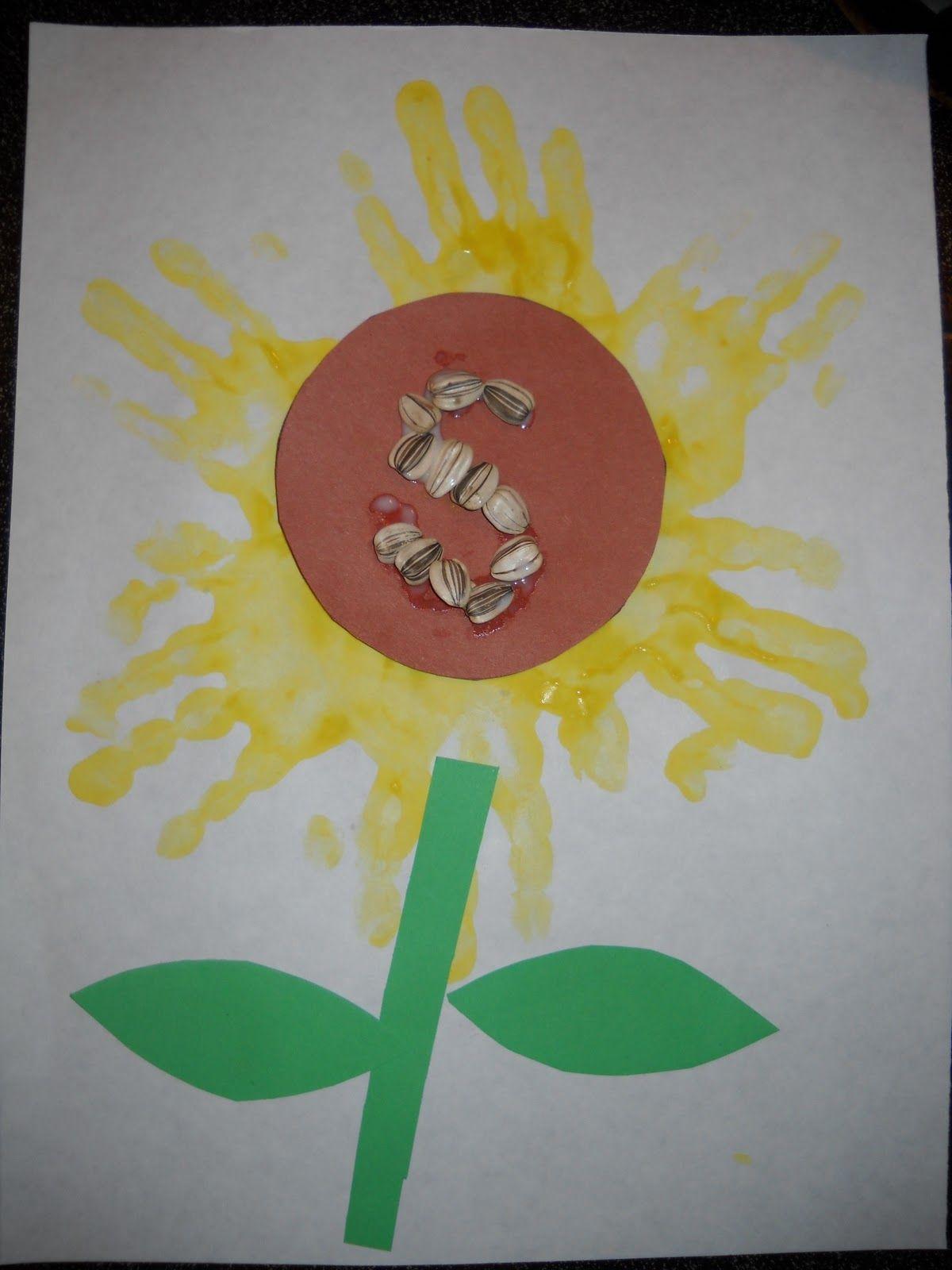 Seeds Unit For Sunflower Alphabet Craft
