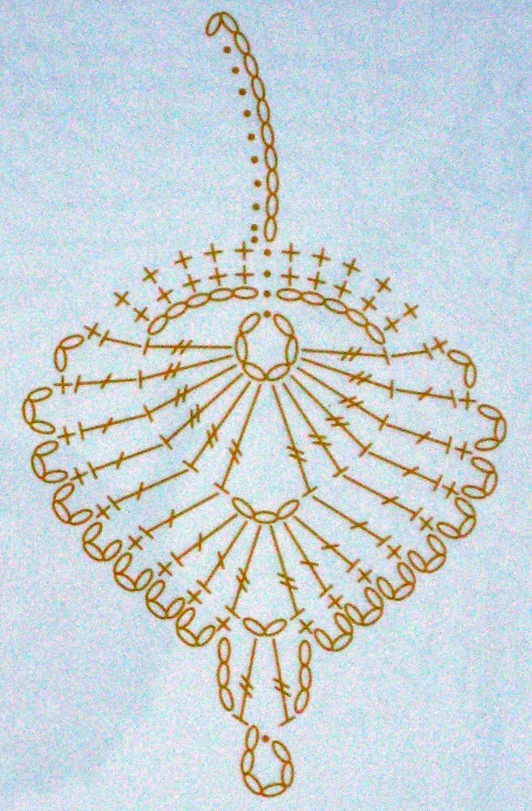 diagramme feuille | crochet | Pinterest | Ganchillo, Hoja y Flores