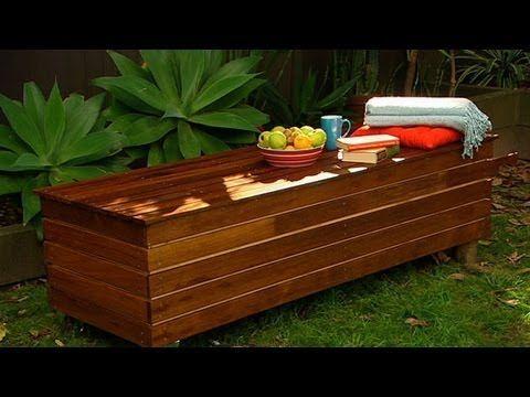 Banco de jardín con espacio de almacenaje - Decóralos Idees - jardines con bancas
