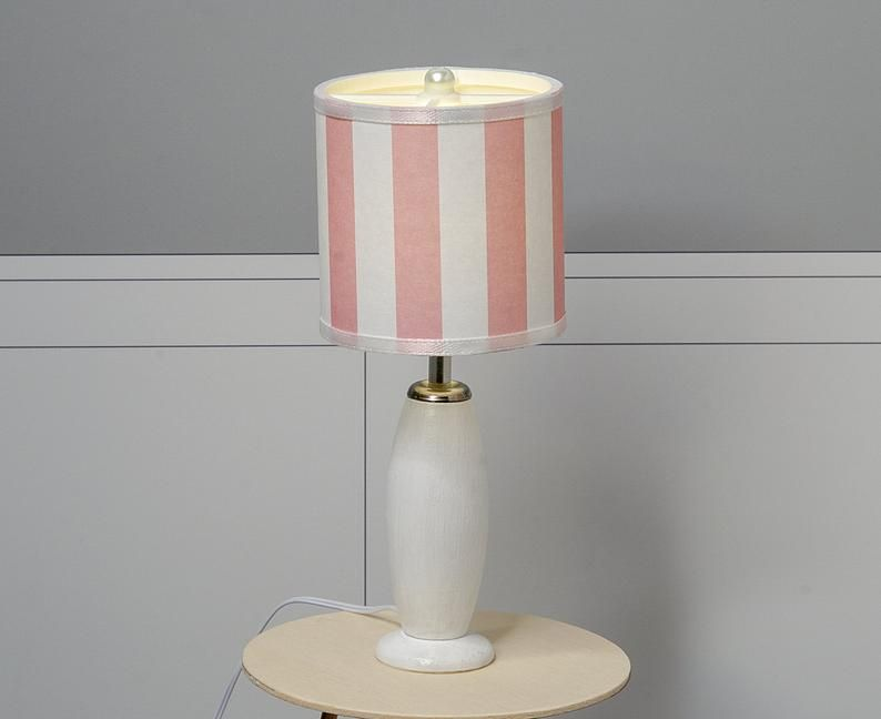 1 6 Scale Lamp Shade Shade Only Pink And White Stripes Playscale Lamp Lamp White Lamp Lamp Shade