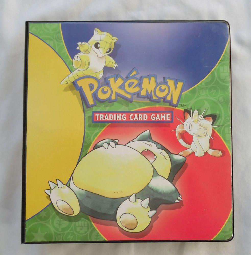1999 pokemon trading card 3 ring binder 1 12 used