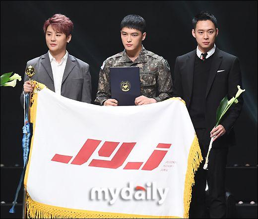 [MD포토] JYJ  ′오랜만에 한자리에 모였어요′