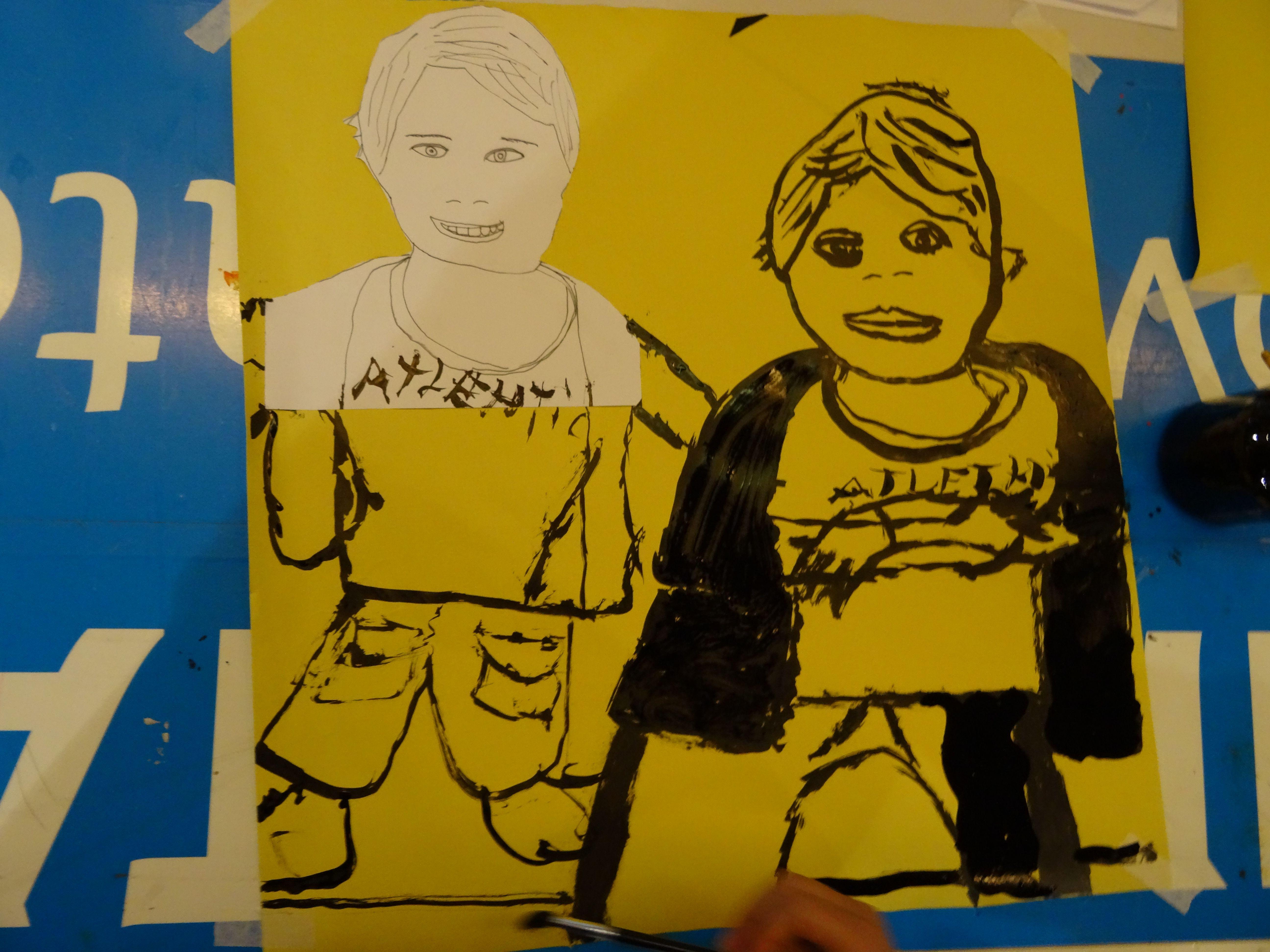 Kunst door de deelnemers van de Vrijstaat Kunstacademie. heb ik gemaakt op de vrijstaat