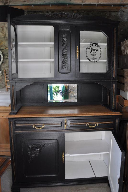 Vaisselier black and white un pinceau une id e renovation meubles mobilier de salon - Renovation de meubles ...