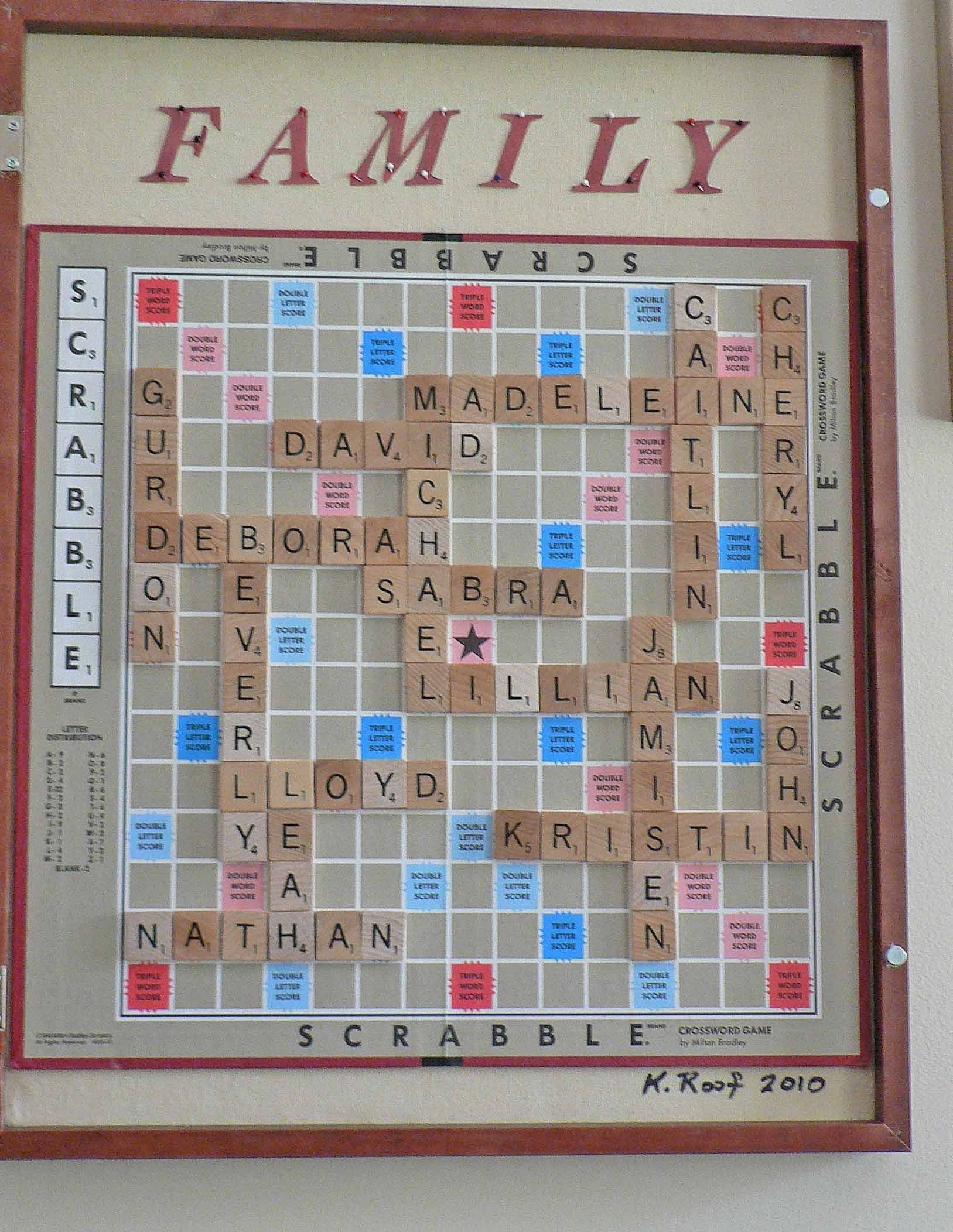 sooo cool..use letters to spell family names and frame