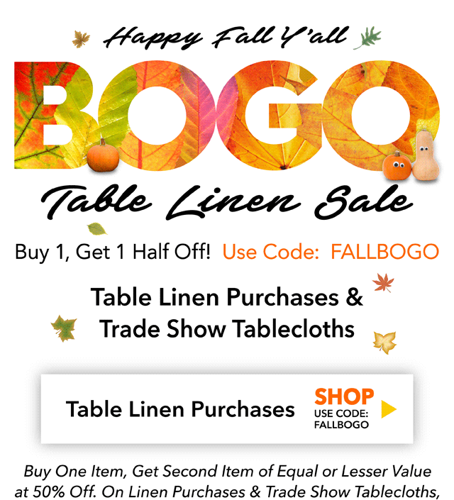 fd4c77d5c3 Fall BOGO Sale — it s a great time to pick up tablecloths and napkins for  the