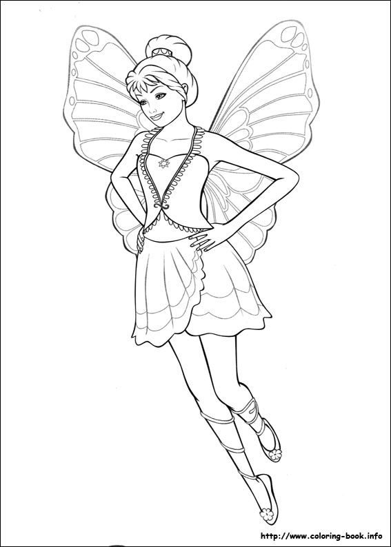 Barbie Mariposa coloring picture | Barbie Coloring Pages | Pinterest ...