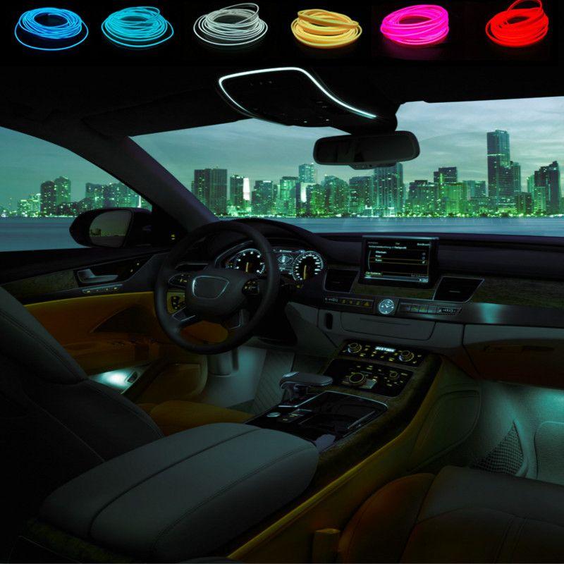 10 colors Car Styling 3Meters flexible neon light glow EL wire car ...