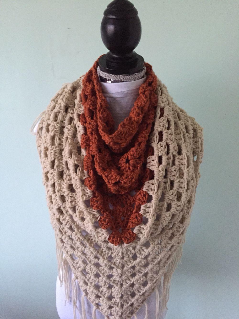 Crochet a granny triangle shawl