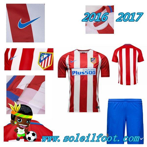 Les Nouveaux Maillot Du Atletico Madrid Rouge Blanc Enfant Kits Domicile Saison Pajama Pants Pants Pajamas