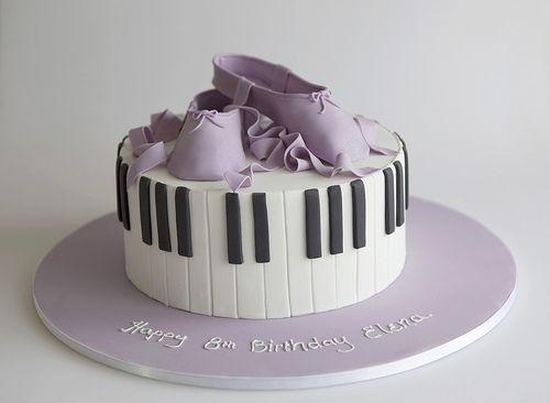 Piano And Ballet Birthday Cake Novelty Cakes  Pinterest - Ballet birthday cake