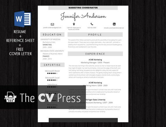 resume template modern resume template word nurse by thecvpress