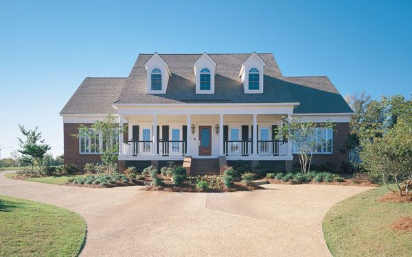 Circular Driveway Gallery | country style house plan with great ...