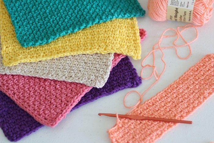 Easy Hand Crocheted Washcloths   Crochet   Pinterest