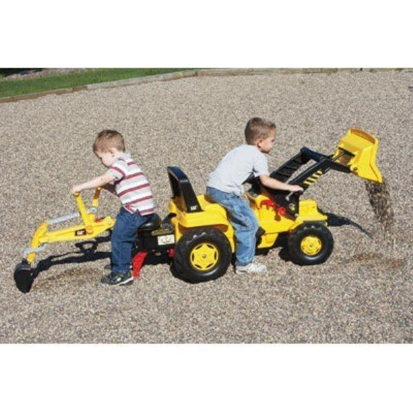 Tractor Toys For Boys : New ride on pedal tractor sandbox front end loader backhoe