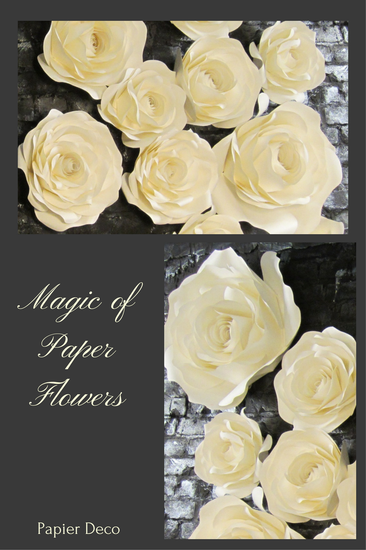 Paper Flower Backdrop - Large Paper Flowers - Giant Flowers - Paper ...