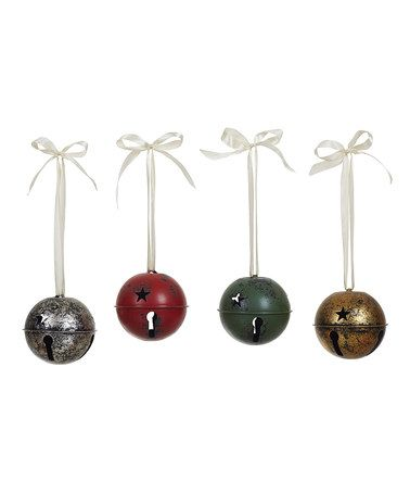 Large Metal Jingle Bell Ornament - Set of Four Jingle bells