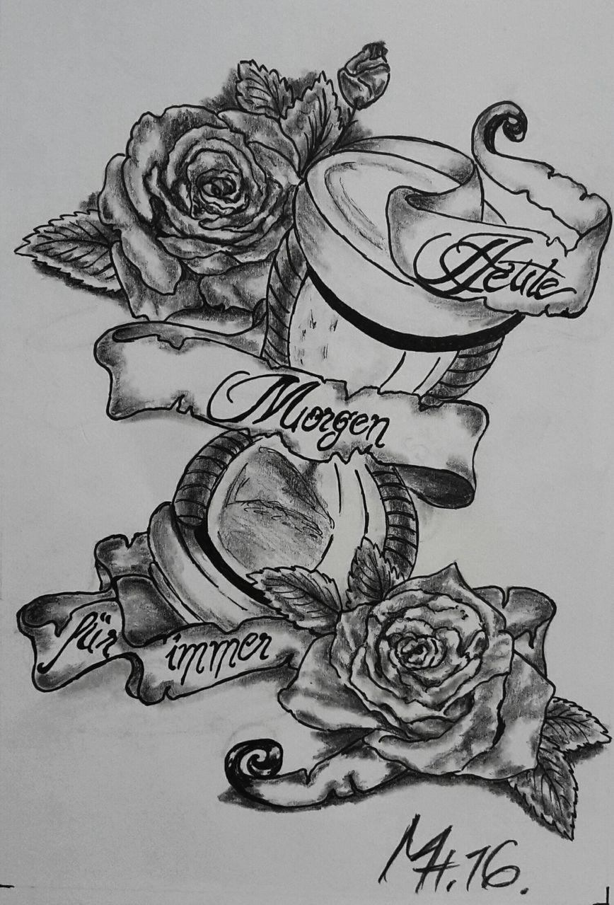 Tattooentwurf Heute Morgen und fr immer  Tatoos