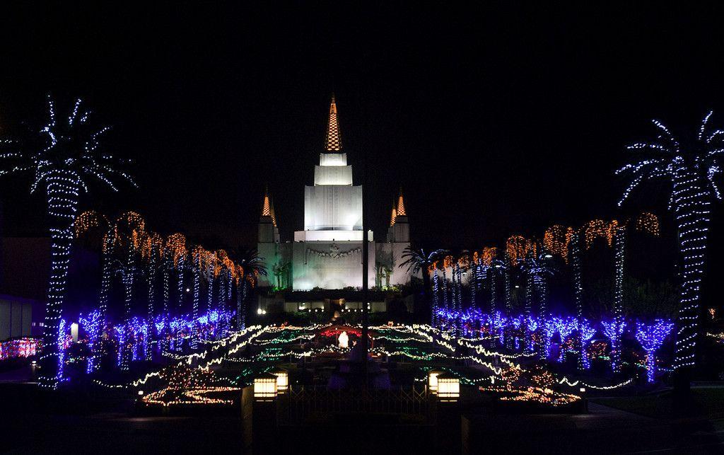 San Diego Christmas Lights.The San Diego California Temple In Christmas Lights