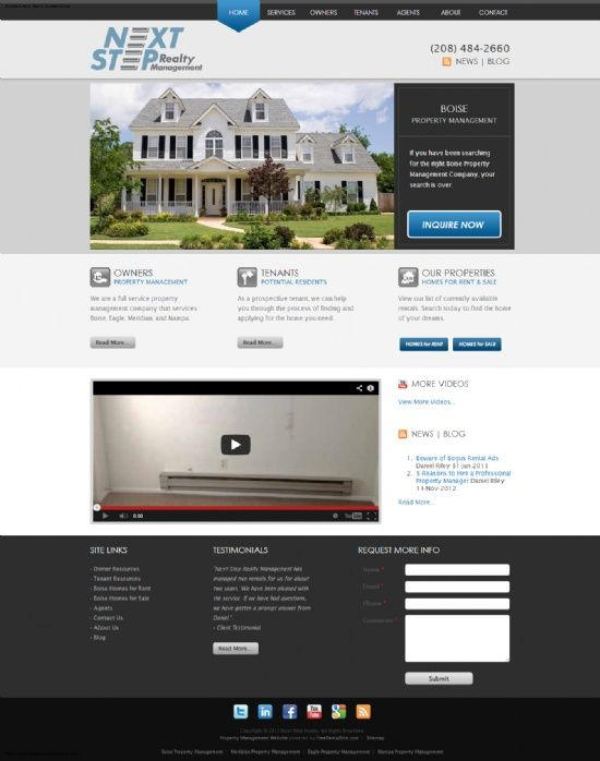 New Website Next Step Realty Management Boise Id Http Www Boisepropertymgmt Com Designed By Http Www Rental Application Realty Property Management