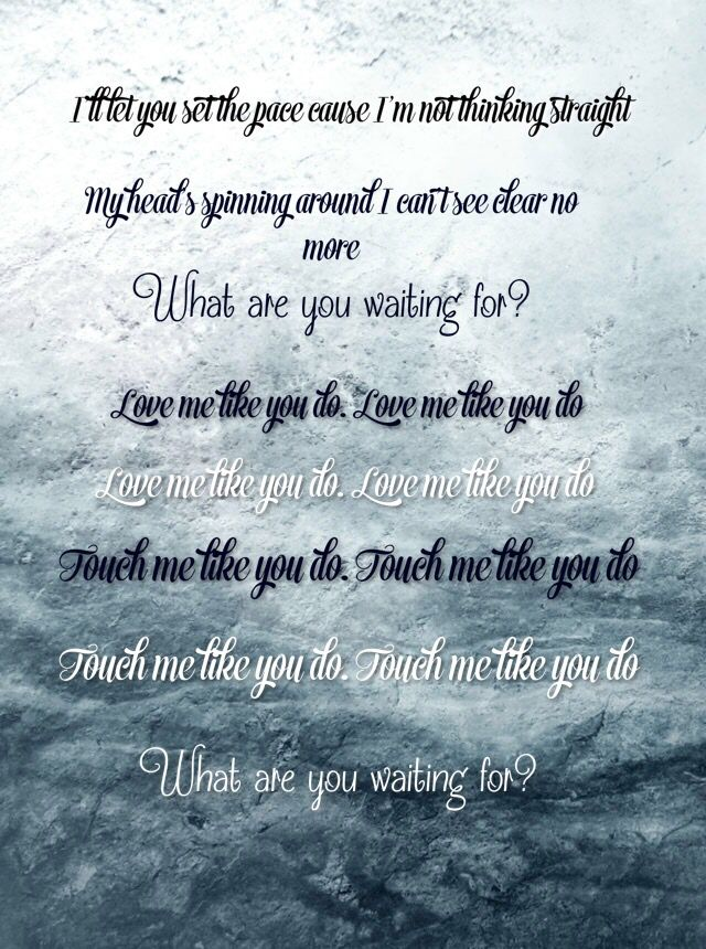 Love Me Like You Do By Ellie Goulding Fifty Shades Of Grey This