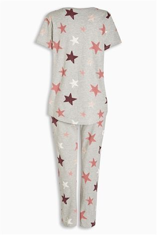 b33969ebec Buy Grey Star Print Wrapband Pyjamas from the Next UK online shop ...
