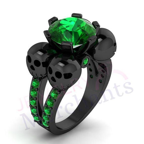 high man item gold crystal ring rose lady made color green engagement emerald luxury plated woman rectangle quality