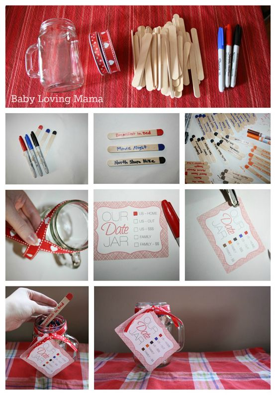 Pin By Findingzest On Gifts In A Jar Craft Tutorial Pinterest Crafts Date Night Jar