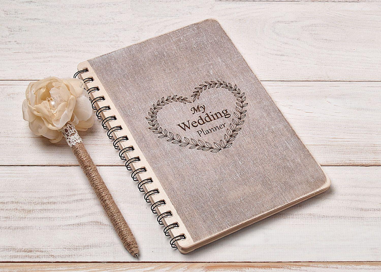 Wedding Planner Book Bride Notebook Organizer Organising Journal Bridal Shower Gift Engagement