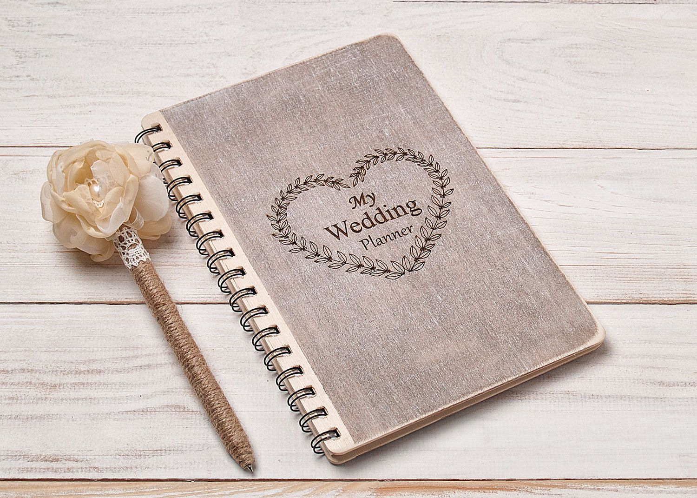 Wedding Planner Book Bride Notebook Organizer Organising Journal Bridal Shower Gift Engagement For By