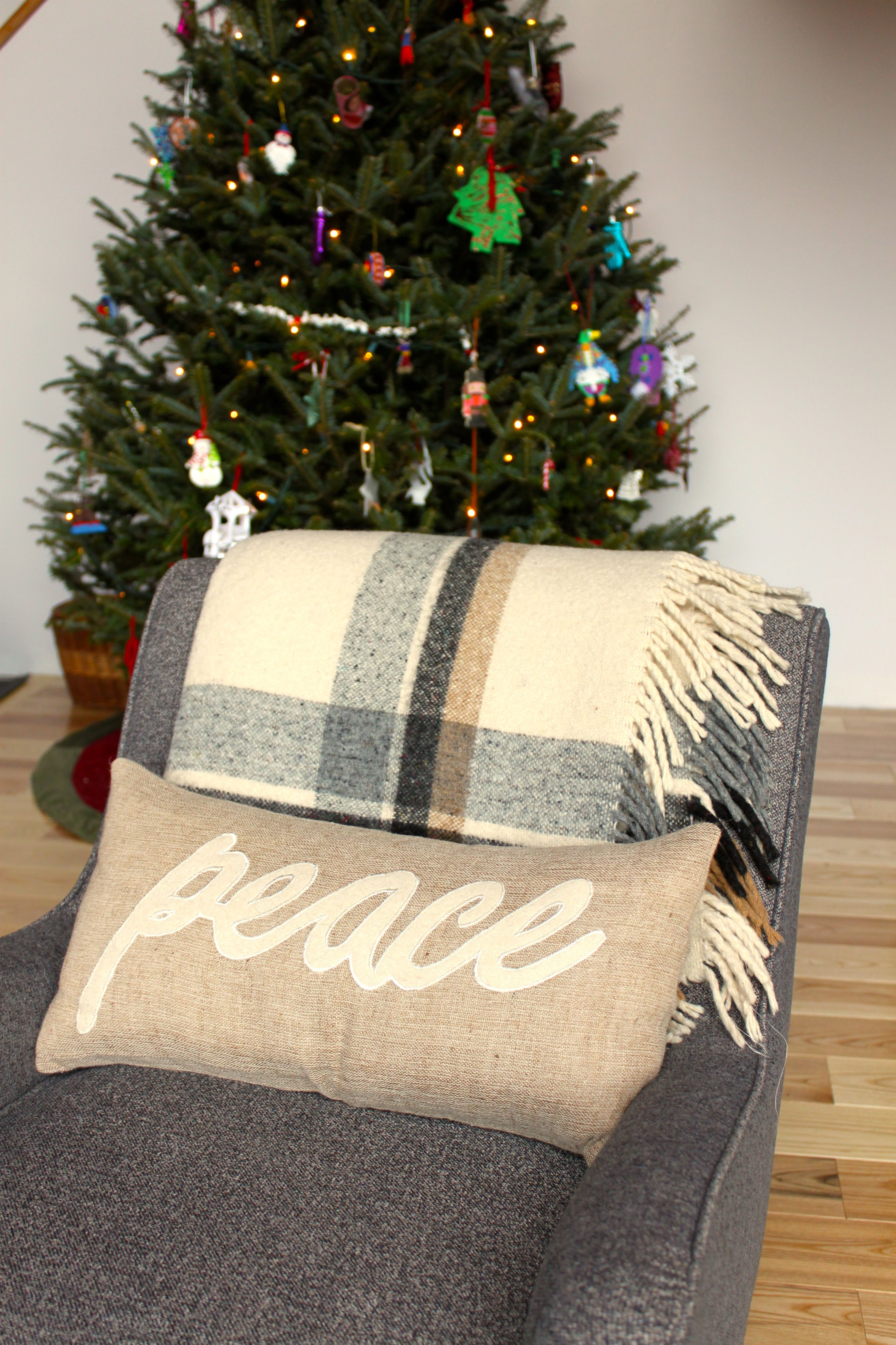 Peace pillow from www.homedecorators.com