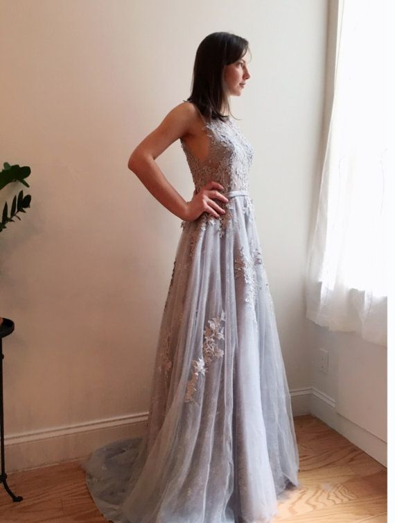 Graues Sortenpferd Hem Hochzeitskleid   Hochzeitskleider ...