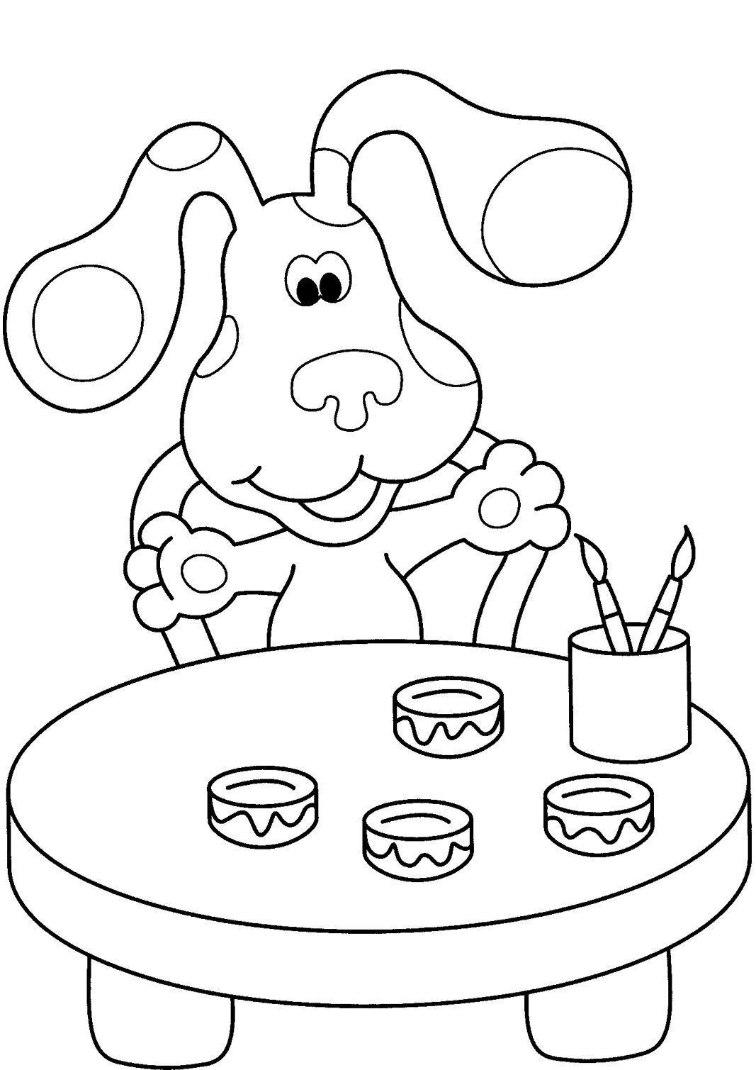 Painter Blues Clues Coloring Pages
