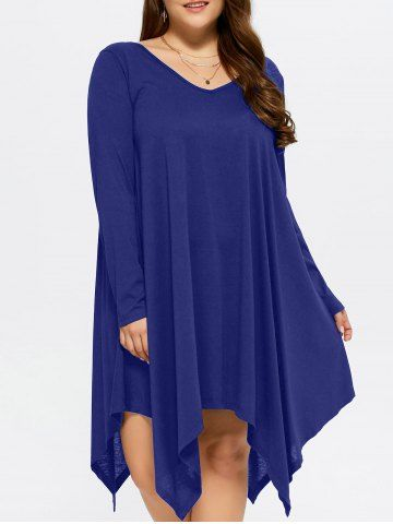 GET $50 NOW | Join RoseGal: Get YOUR $50 NOW!http://m.rosegal.com/plus-size-dresses/plus-size-asymmetrical-smock-dress-966587.html?seid=7755539rg966587