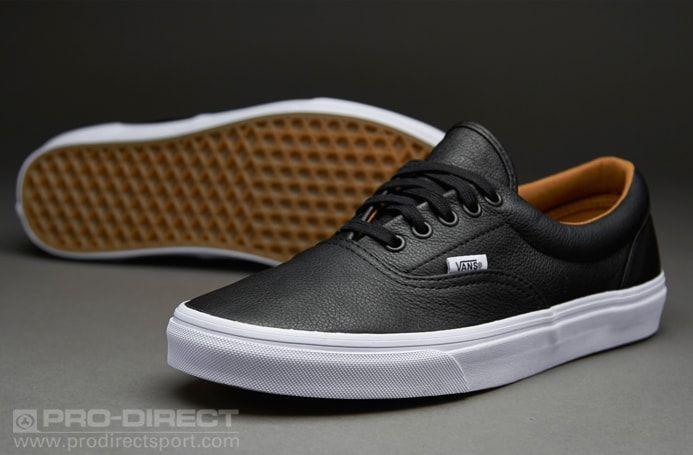 Mens Shoes - Vans Era - (Premium Leather) Black - VN-0Y6XEW9 ...