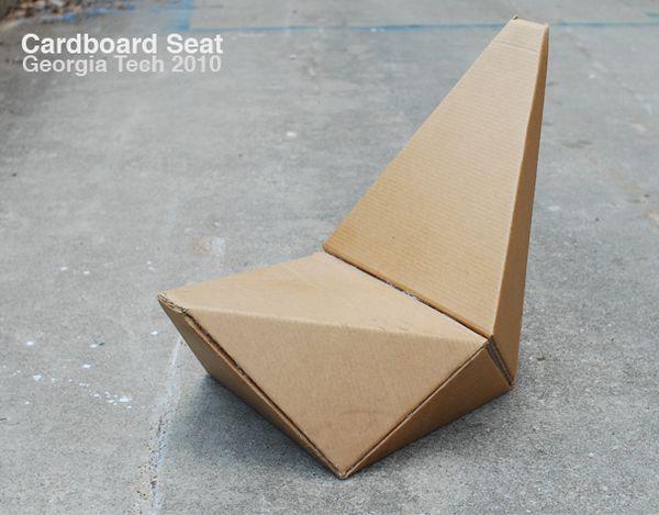 aia cardboard seat design by gourab kar furniii furniture rh pinterest com