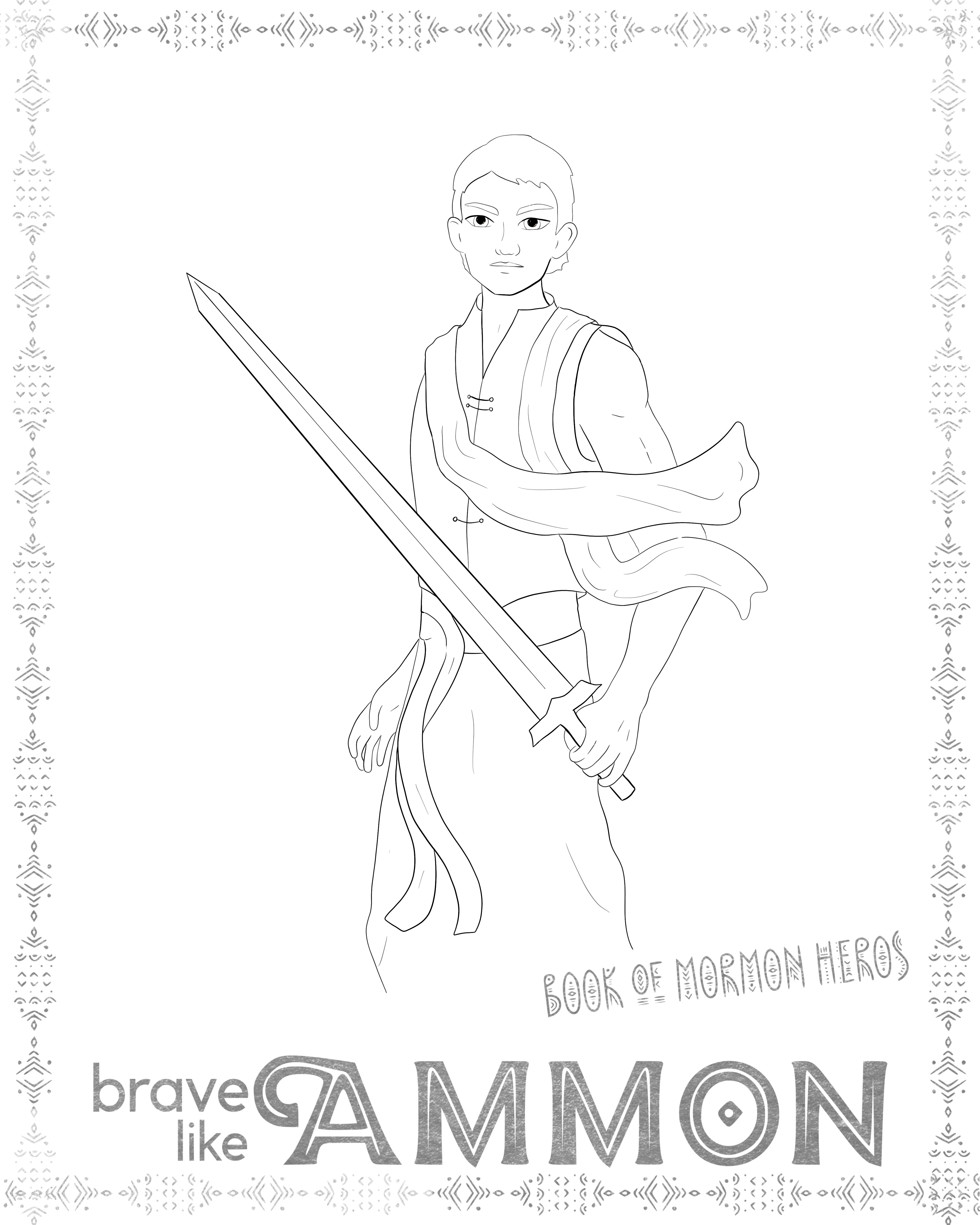 Book Of Mormon Hero Posters Coloring Pages Hero Poster Book Of