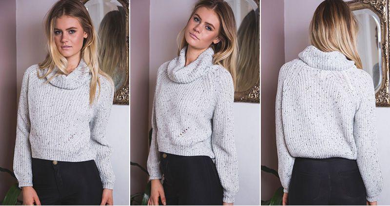 Otoño invierno de cuello alto corto Pullover Sweaters mujeres Tricot tejido  de lana blanca Jumpers Pull Femme de gran tamaño en Jerseys de Moda y ... b3ad65f8dc78
