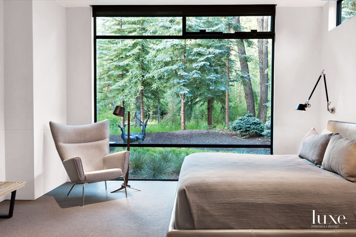 Window behind bed vastu  architects rich pavcek and charles cunniffe designed a contemporary