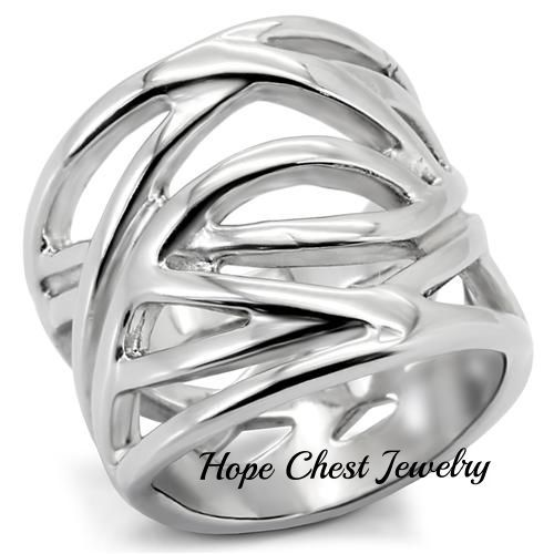 Classy Not Trashy Clear Crystal Knot Design Womens