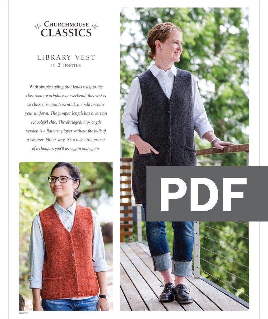 7e969ea0c Library Vest Pattern – Churchmouse Yarns   Teas