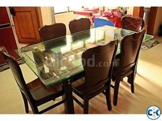 Malaysian Wood Processed 6 Chair Set Dinning Table Fresh Dining Table Chairs Furniture Dining Table Dining Table