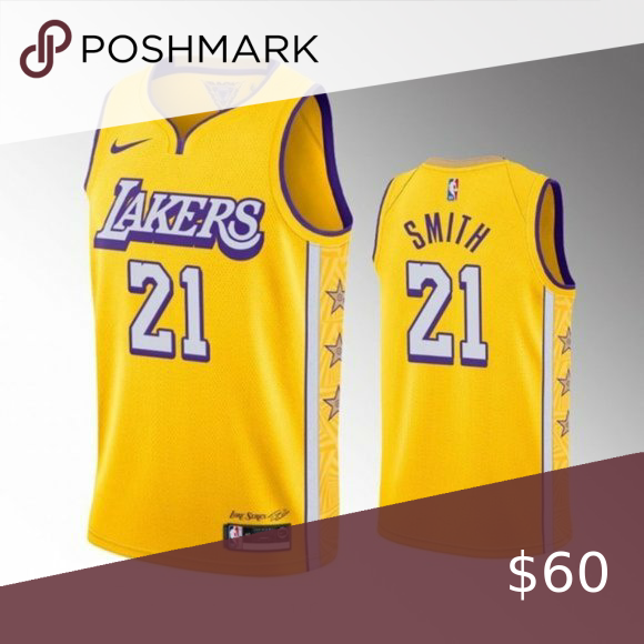 Los Angeles Lakers J R Smith City Jersey Brand New With Tag True To Size Fully Stitched Cleveland Cava In 2020 Los Angeles Lakers Kobe Bryant Michael Jordan Lakers