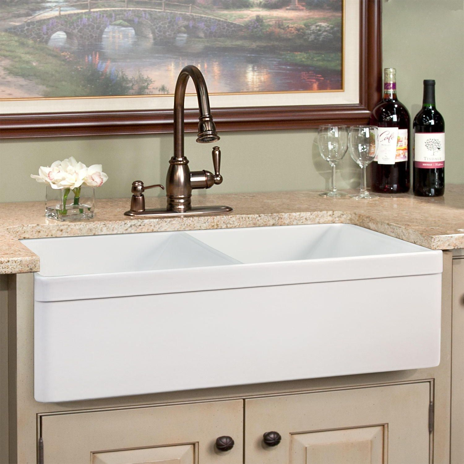 Double Farmhouse Sinks Double Apron Front Sinks Farmhouse Sink