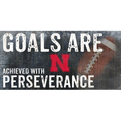 Fan Creations NCAA Goals and Perseverance Textual Art Plaque NCAA Team: