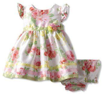 038230bbe Sweet Heart Rose Baby-Girls Newborn Floral Easter Dress