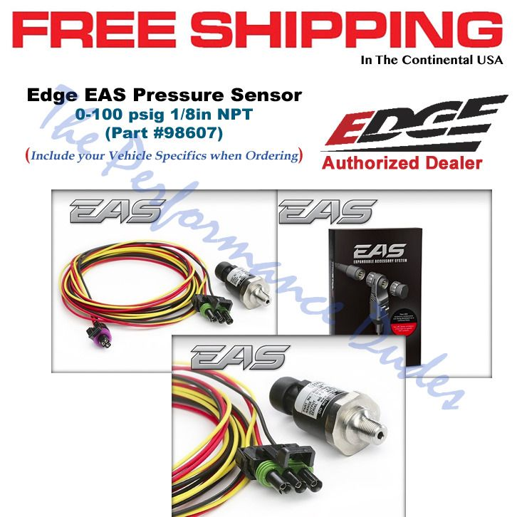 Same Business Day Shipping Edge 98607 Eas Pressure Sensor 0 100psig 1 8 Npt Boost Cs Cs2 Cts Cts2 Sensor Pressure Performance Parts